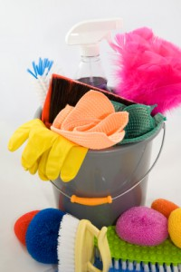 cleaning bucket & tools